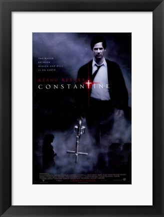 Framed Constantine - carrying a cross Print
