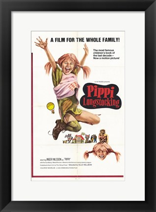 Framed Pippi Longstocking Print