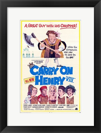 Framed Carry on Henry VIII Print