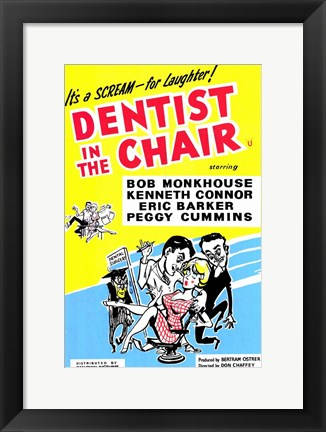 Framed Dentist in the Chair Print