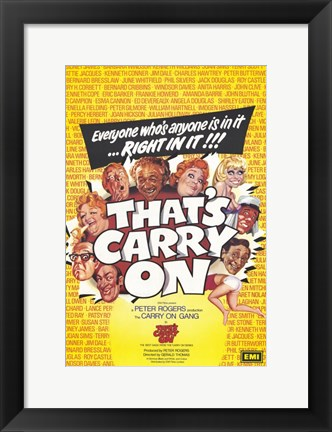 Framed That's Carry on Print