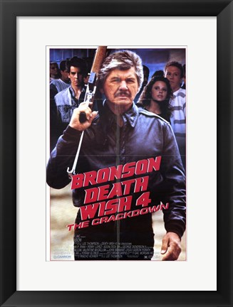Framed Death Wish 4: the Crackdown Print