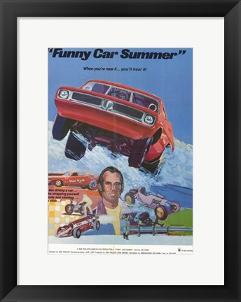 Framed Funny Car Summer Print