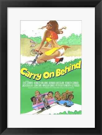 Framed Carry on Behind Print