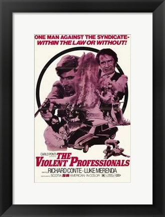 Framed Violent Professionals Print