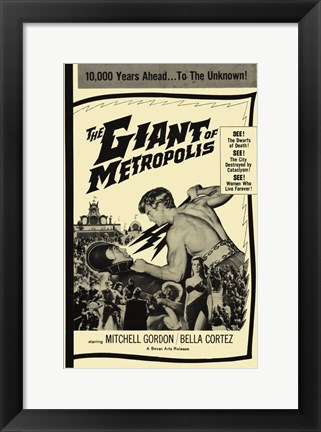 Framed Giant of Metropolis Print