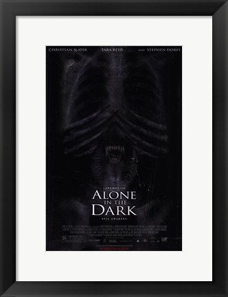 Framed Alone in the Dark Print