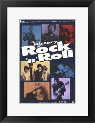 Framed History of Rock 'N' Roll Print