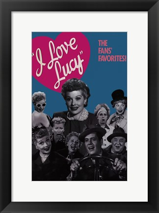 Framed I Love Lucy Print