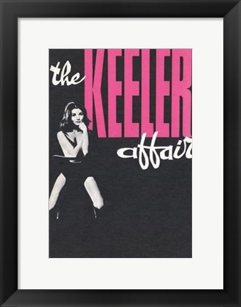 Framed Christine Keeler Affair Print