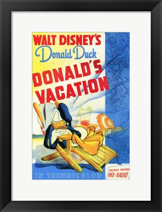 Framed Donald's Vacation Print