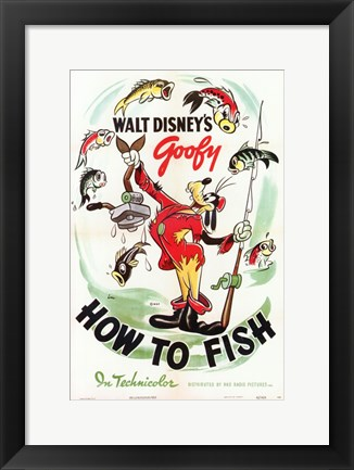 Framed How to Fish Print