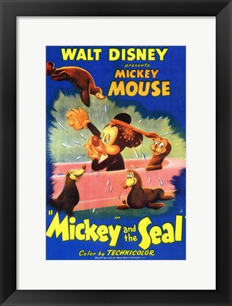 Framed Mickey and the Seal Print