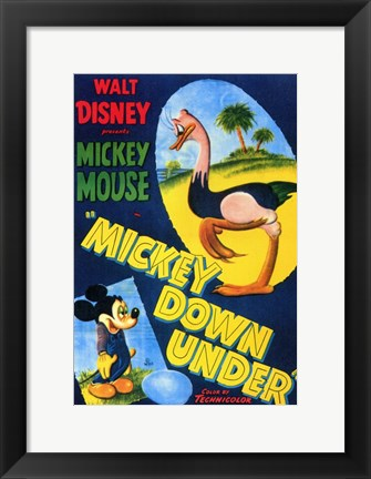 Framed Mickey Down Under Print