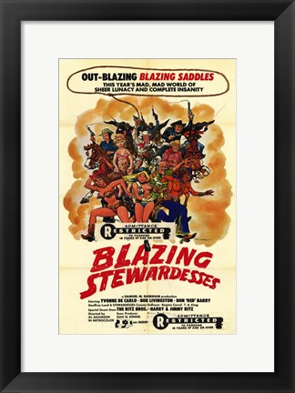 Framed Blazing Stewardesses Print