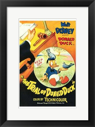 Framed Trial of Donald Duck Print
