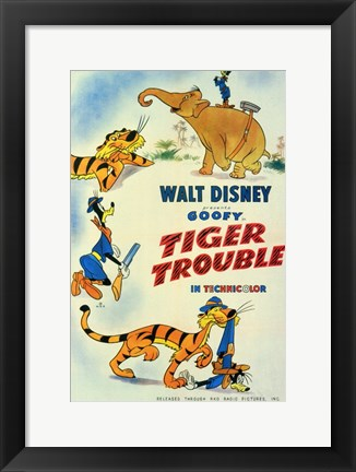 Framed Tiger Trouble Print