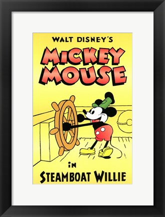 Framed Steamboat Willie Print