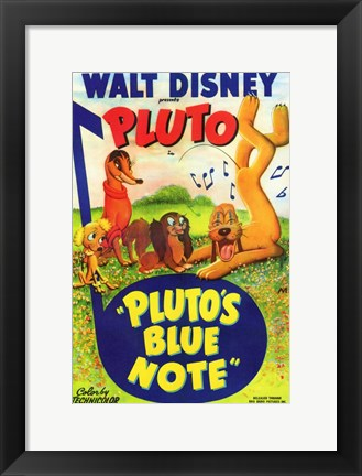 Framed Pluto's Blue Note Print