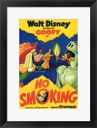 Framed No Smoking - Walt Disney Print