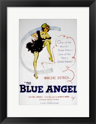 Framed Blue Angel Print