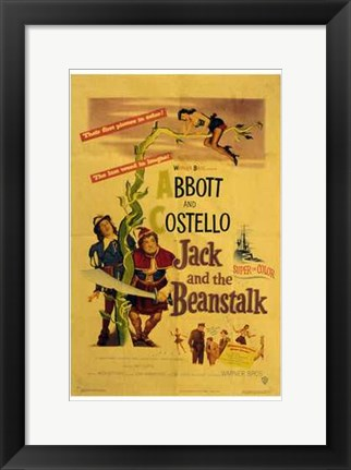 Framed Abbott and Costello, Jack and the Beanstalk, c.1952 Print