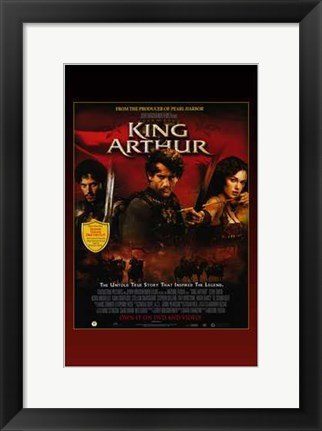Framed King Arthur Clive Owen Print
