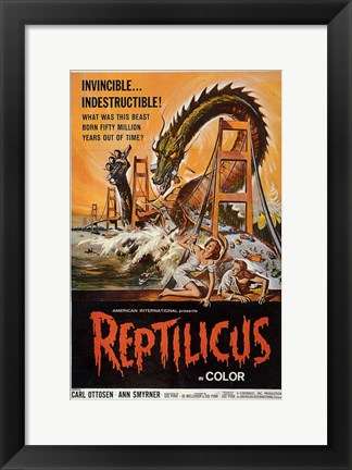 Framed Reptilicus In Color Print
