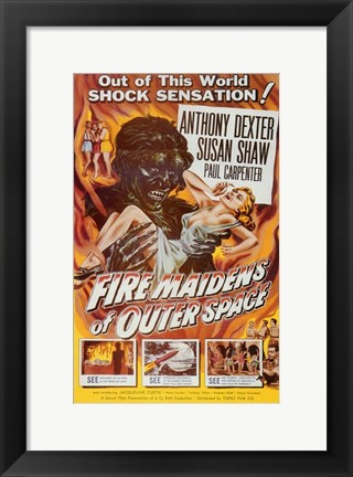 Framed Fire Maidens from Outer Space Print