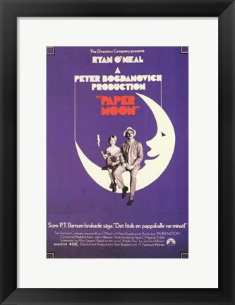 Framed Paper Moon Print