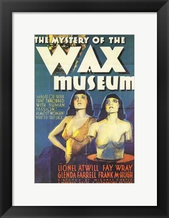 Framed Mystery of the Wax Museum Print