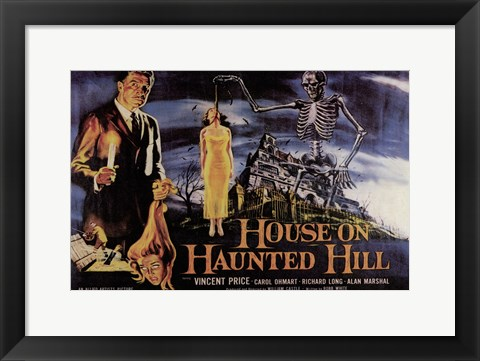 Framed House on Haunted Hill Vincent Price Print