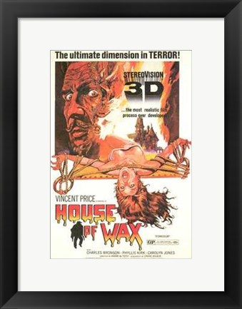 Framed House of Wax Vincent Price 3D Print