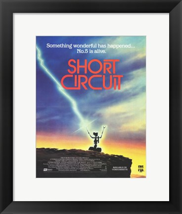 Framed Short Circuit No. 5 Print