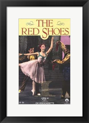 Framed Red Shoes - dancing Print