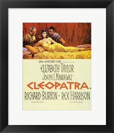 Framed Cleopatra, c.1963 - couple Print
