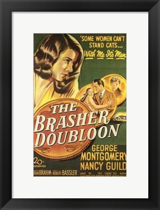 Framed Brasher Doubloon Print