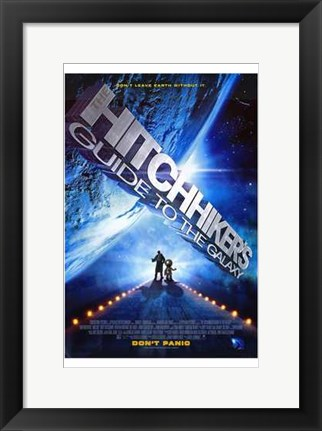 Framed Hitchhiker's Guide to the Galaxy Print