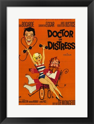 Framed Doctor in Distress Print