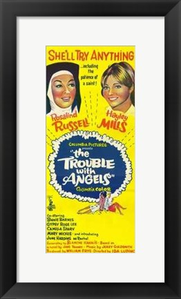 Framed Trouble with Angels (movie poster) Print