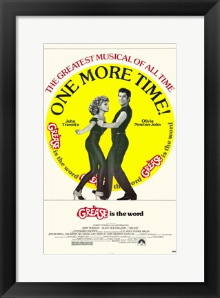 Framed Grease One More Time! Print
