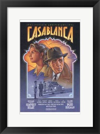 Framed Casablanca Art Deco Print