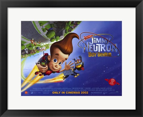 Framed Jimmy Neutron: Boy Genius Print