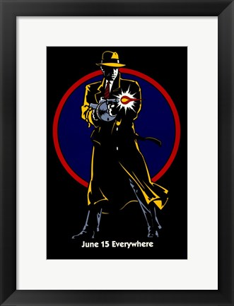Framed Dick Tracy Juen 15 Everywhere Print