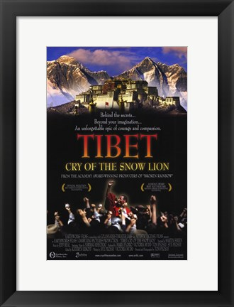 Framed Tibet: Cry of the Snow Lion Print