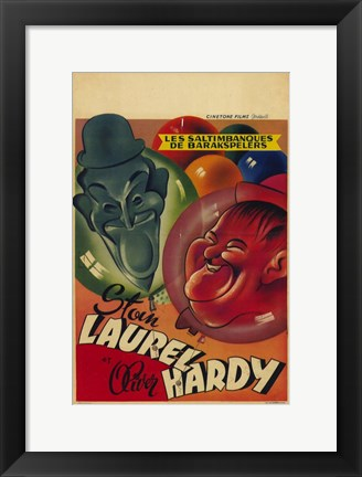 Framed Laurel and Hardy's Laughing 20'S Print
