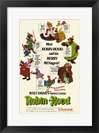 Framed Robin Hood and his Merry MENagerie Print