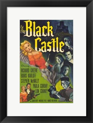 Framed Black Castle Print