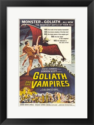 Framed Goliath and the Vampires Print