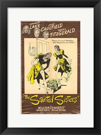 Framed Sainted Sisters Print
